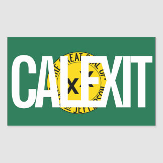 CALEXIT State of Jefferson Rectangular Sticker