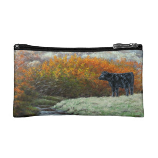 Calf by Creek in the Fall Cosmetic Bag
