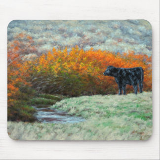 Calf by Creek in the Fall Mousepad