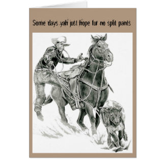 Calf Roping Card