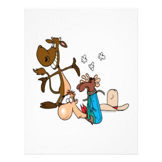 calf roping rodeo cowboy literally flyer design