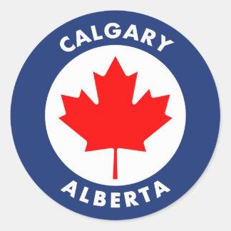 Calgary, Alberta Classic Round Sticker
