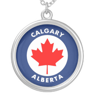 Calgary, Alberta Silver Plated Necklace
