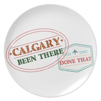 Calgary Been there done that Plate