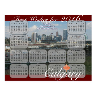 Calgary Calendar 2016 Postcard