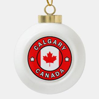 Calgary Canada Ceramic Ball Christmas Ornament