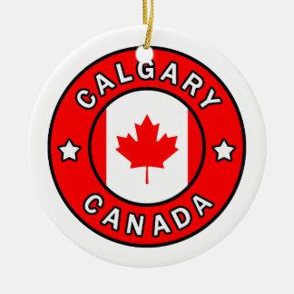 Calgary Canada Ceramic Ornament