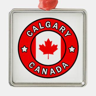 Calgary Canada Metal Ornament