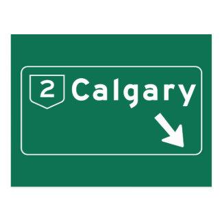 Calgary, Canada Road Sign Postcard