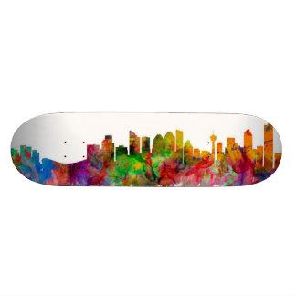 Calgary Canada Skyline Skate Board Deck