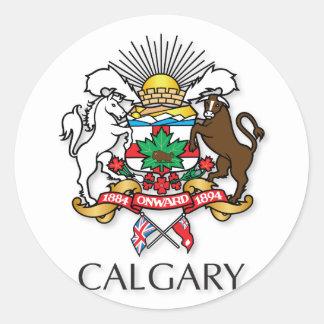 Calgary coat of arms classic round sticker