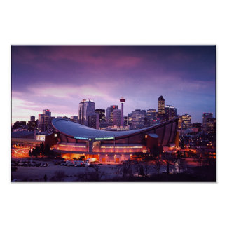 Calgary during Sunset Poster
