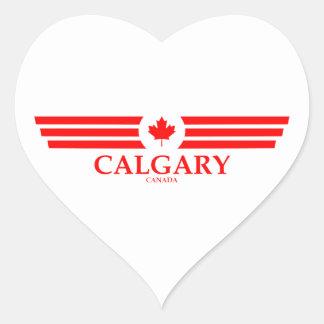 CALGARY HEART STICKER