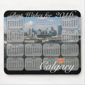 Calgary Skyline 2016 Calendar Mouse Pad