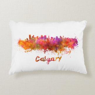 Calgary skyline in watercolor decorative cushion