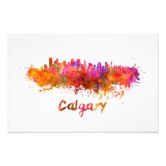 Calgary skyline in watercolor fotografia