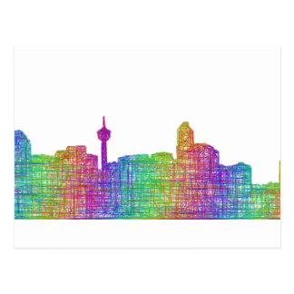 Calgary skyline postcard