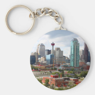 Calgary skyline with buildings and tower key ring