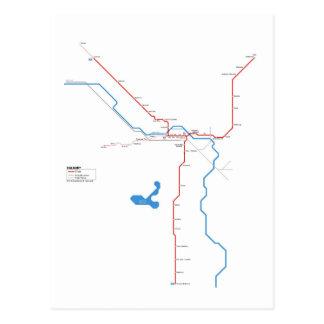 Calgary subway postcard