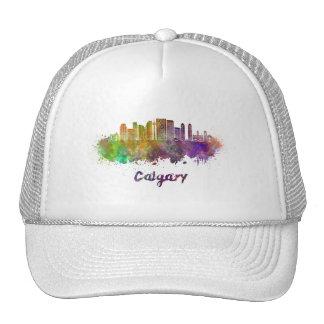 Calgary V2 skyline in watercolor Cap