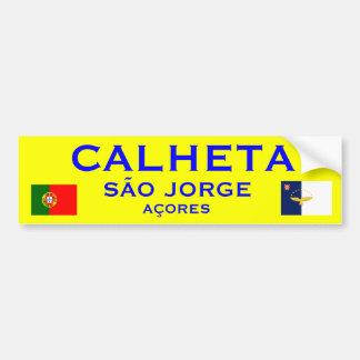 Calheta Sao Jorge Bumper Sticker Car Bumper Sticker