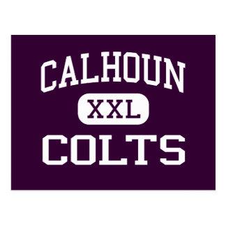 Calhoun - Colts - high School - Merrick New York Postcard