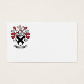 Calhoun Family Crest Coat of Arms Business Card