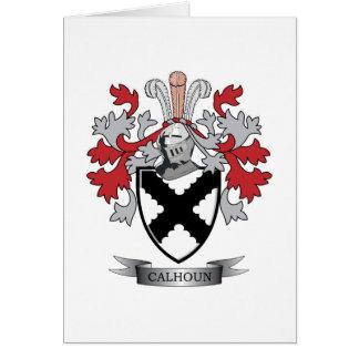 Calhoun Family Crest Coat of Arms Card