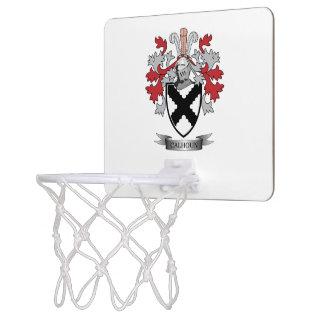 Calhoun Family Crest Coat of Arms Mini Basketball Hoop