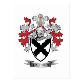 Calhoun Family Crest Coat of Arms Postcard