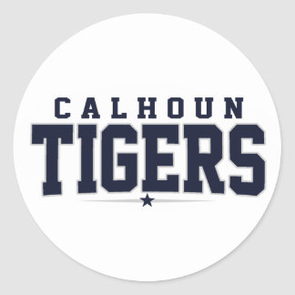 Calhoun High School; Tigers Round Sticker