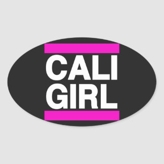 Cali Girl Pink Oval Sticker