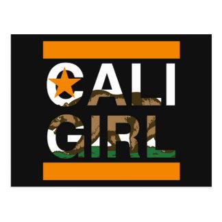 Cali Girl Rep Orange Postcard