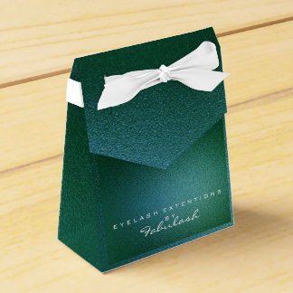 Cali Green Metallic Name Branding Beauty Salon Favour Box
