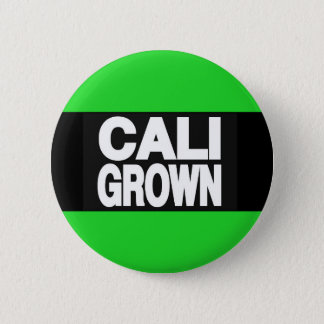 Cali Grown 2 Green 6 Cm Round Badge
