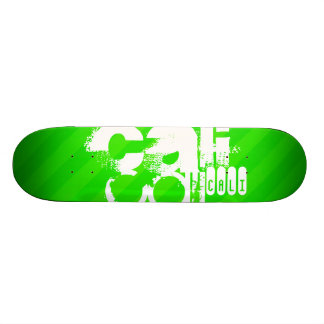 Cali; Neon Green Stripes Skate Board Decks