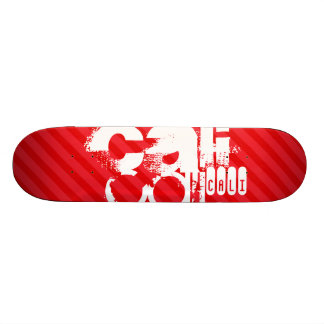 Cali; Scarlet Red Stripes Skateboard
