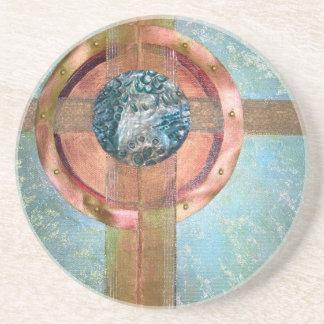 Calibrate - mixed media coaster