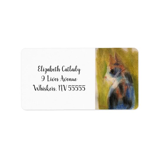 Calico Cat Address Lables with Original Artwork Label