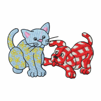 Calico Cat and Gingham Dog Polos