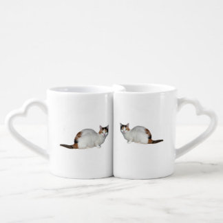 Calico Cat Coffee Mug Set