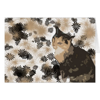 Calico Cat Design Blank Greeting Cards