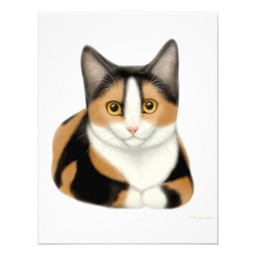 Calico Cat Invitation