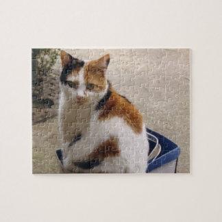 Calico cat jigsaw puzzle