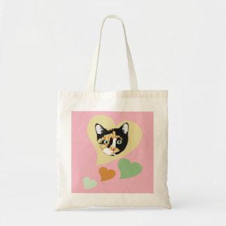 Calico Cat Love Tote Bag