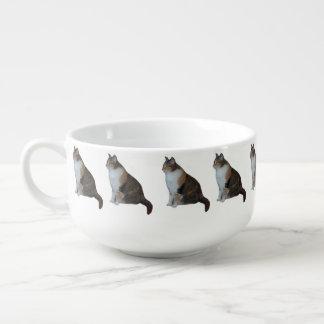 Calico Cat Soup Mug