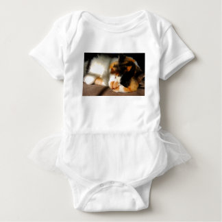 Calico Cat Sunning Baby Bodysuit