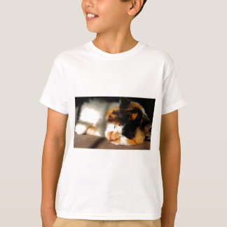 Calico Cat Sunning T-Shirt