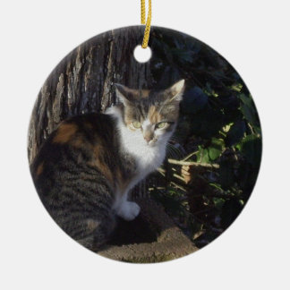 Calico Ceramic Ornament