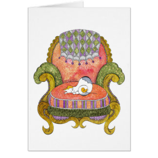 Calico in Chair Card